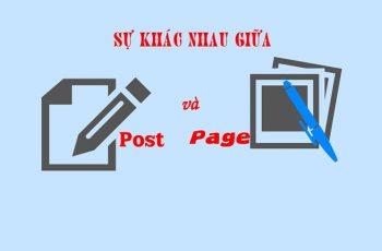 Sự khác nhau giữa post và page