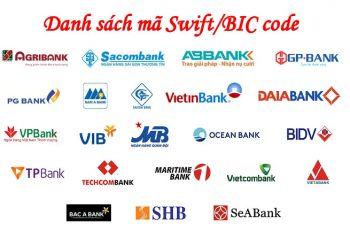 Swift/BIC code ngân hàng Việt Nam